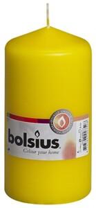Bolsius Stumpenkerze ,  gelb, Höhe 13 cm, Ø 6,8 cm
