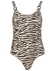 Damen Badeanzug mit Animal-Muster