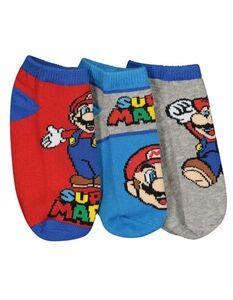 Jungen Super Mario Socken im 3er-Pack