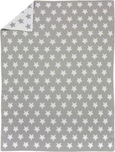 Babydecke gestrickt, Stars, 75 x 100 cm