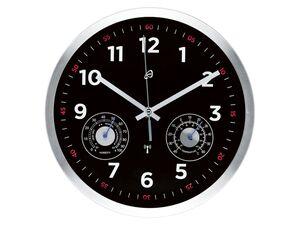 AURIOL® Funkwanduhr, mit automatischer Zeiteinstellung, Aluminiumrahmen mit Glasabdeckung