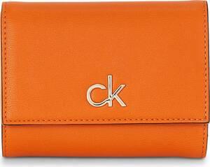Calvin Klein, Geldbörse Trifold Md in orange, Geldbörsen für Damen