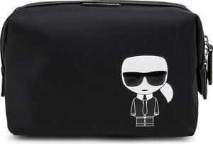 Karl Lagerfeld, Kosmetiktasche Iconic in schwarz, Kosmetiktaschen für Damen