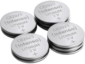 INTENSO CR 2025 Lithium Knopfzelle (frei von Quecksilber, Cadmium & Blei) Knopfzellen, / Manganese Dioxide (Li/MnO2), 3 Volt, 160 mAh 10 Stück