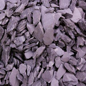 Canadian Schiefer 25 kg 30-60 mm Körnung violett