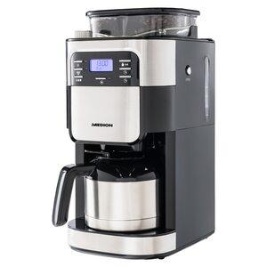 MEDION Kaffeemaschine mit Mahlwerk und Isolierkanne MD 19777, LED-Display, Tropf-Stopp, Kaffeebohnenmahlwerk, 900 Watt, 1,0 Liter Fassungsvermögen