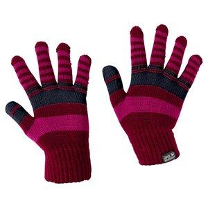 Jack Wolfskin Cross Knit Gloves Kids Handschuhe Kinder one size rot dark ruby