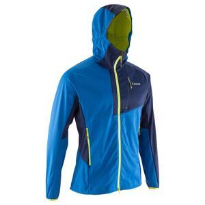 Bergsteiger-Softshelljacke Alpinism Light Herren blau