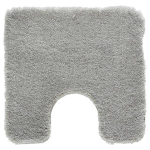 Kleine Wolke BADTEPPICH Grau 55/55 cm , Relax 5405 189 129 , Textil , Uni , 55x55 cm , für Fußbodenheizung geeignet, rutschhemmend , 003342094102