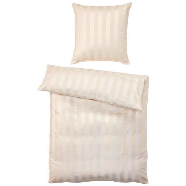 Curt Bauer Bettwäsche beige , 2044 Como , Textil , Streifen , 155x220 cm , 004210011403