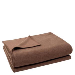 Zoeppritz Wohndecke 160/200 cm schlammfarben , 103291 Soft-Fleece , Textil , Uni , 160x200 cm , Fleece , Kettelrand, pflegeleicht , 005299002130
