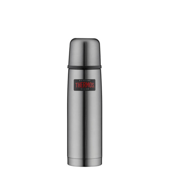 Alfi Isolierflasche 0,5 l , 4019.218.050 , Grau , Metall , matt , doppelwandig, schlag- und bruchfest, lebensmittelecht, Vakuum, 100% dicht, abnehmbarer Deckel, hält warm, hält kalt, bruchsicher, r