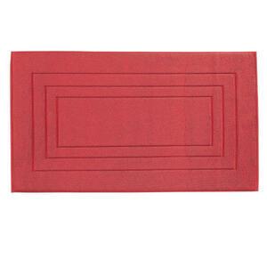 Vossen BADEMATTE Dunkelrot 67/120 cm , 8111/1200 Vossen Feeling , Textil , 67x120 cm , Frottee , für Fußbodenheizung geeignet, rutschhemmend , 003355047112