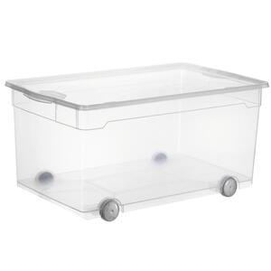 Rotho Box mit deckel , 1767000096 , Transparent , Kunststoff , 40x33.5x71.5 cm , glänzend , Deckel abnehmbar, stapelbar , 0032940308