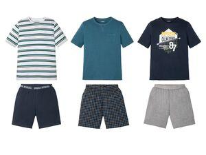 LIVERGY® Pyjama Herren, mit Rundhalsausschnitt