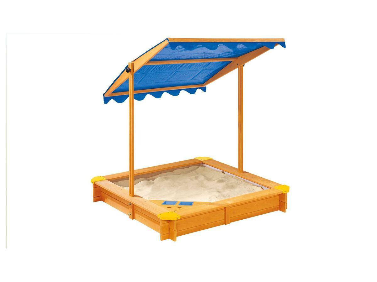 Bild 1 von PLAYTIVE® Sandkasten mit Dach und Eisdiele