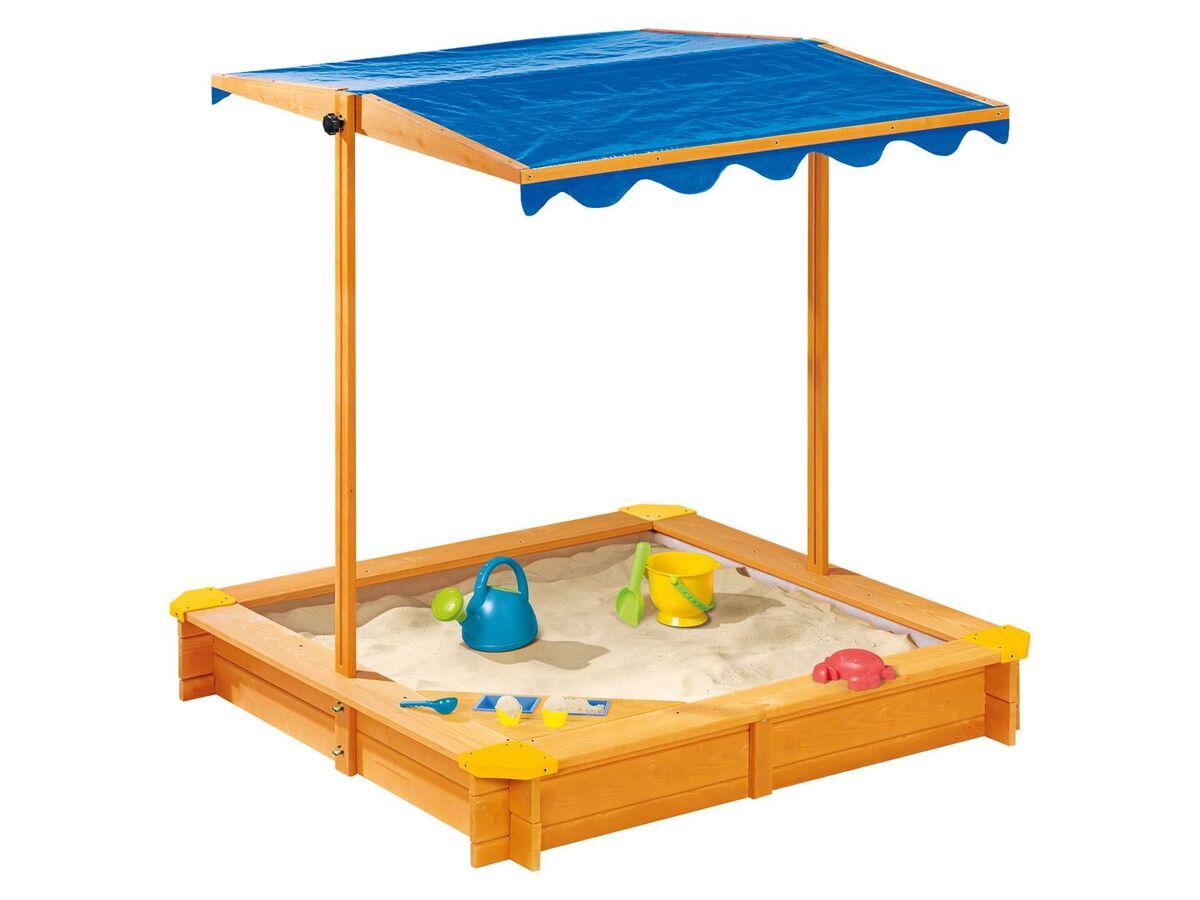 Bild 3 von PLAYTIVE® Sandkasten mit Dach und Eisdiele