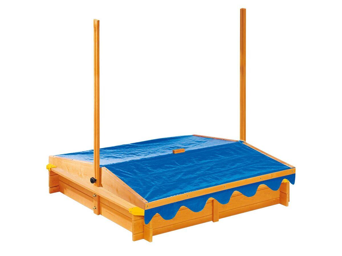 Bild 4 von PLAYTIVE® Sandkasten mit Dach und Eisdiele