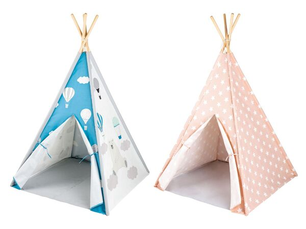 PLAYTIVE® Kinder Tipi, Tür mit Klettband
