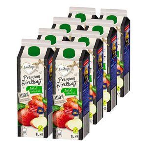 Lieblings Premium Apfel-Direktsaft naturtrüb 1 Liter, 8er Pack