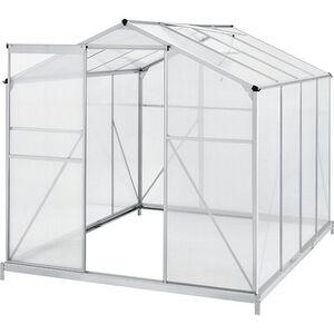 Juskys Aluminium Gewächshaus mit Fundament für Garten   4,75 qm   190 × 253 cm