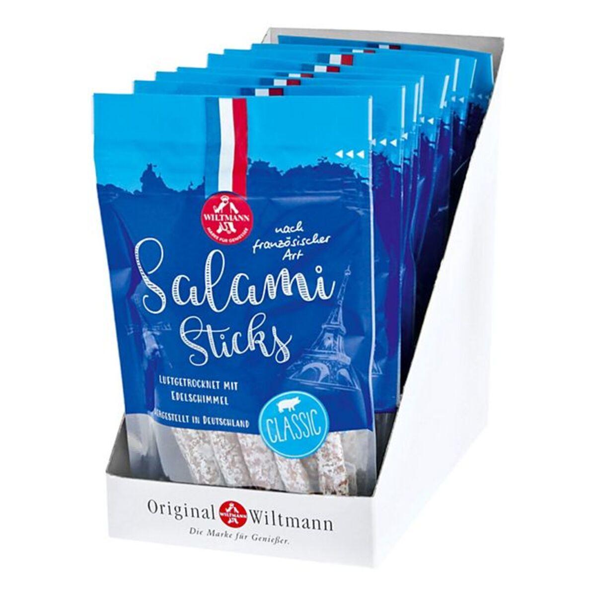 Bild 1 von Wiltmann Salami Sticks classic 100 g, 8er Pack
