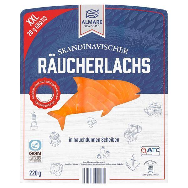 ALMARE Skandinavischer Räucherlachs 220 g