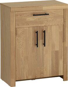 Home affaire Badkommode »Satori«, Breite 62 cm, Fronten & Rahmen aus massiver Eiche, 2 Türen und Schublade mit Metallgriffen