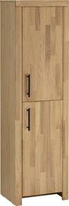 Home affaire Hochschrank »Satori« Höhe 153 cm, Fronten & Rahmen aus massiver Eiche, 2 Türen mit Metallgriffen