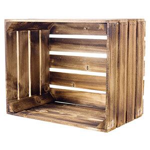 Holzkiste geflammt 50x40x30 cm