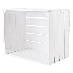 Holzkiste weiß, 50x40x30 cm