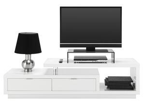 TV-Element in Weiß Hochglanz