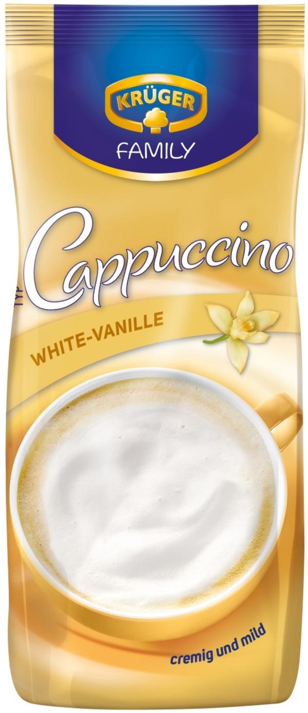 Krüger Family Cappuccino White-Vanille im Nachfüllbeutel 500 g