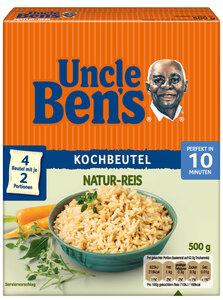 Uncle Ben's Natur-Reis 10 Minuten im Kochbeutel 500G