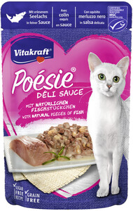 Vitakraft Poésie Delisauce Seelachs Katzenfutter nass 85G