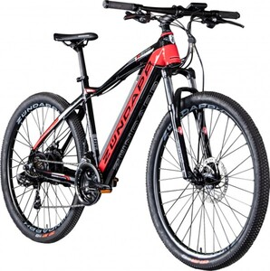 Zündapp E-Mountainbike 27,5 Zoll 21-Gang ,  Z801, schwarz/rot