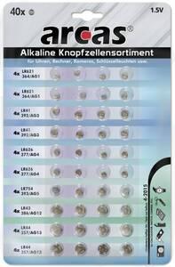 Alkaline Knopfzellensortiment - 40-teilig