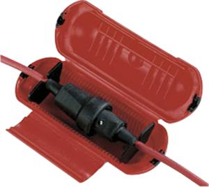 Kabelverbindungs - Schutzbox für Steckverbindungen von Stromkabeln