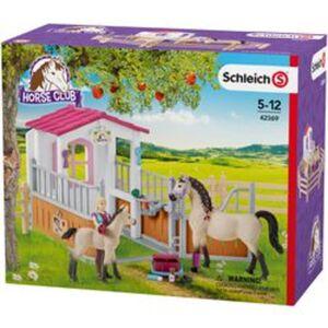Schleich® Pferdebox mit Arabern und Pferdepflegerin