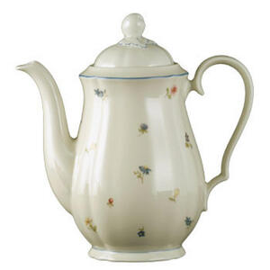 Seltmann Weiden Kaffeekanne , 30308 , Creme , Keramik , Blume , 1,35 L , glänzend , 0031230660