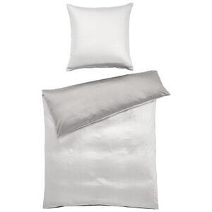 Joop! Bettwäsche makosatin anthrazit, weiß , Joop! 4040 Micro Pattern , Textil , 135x200 cm , Makosatin , schadstoffgeprüft , 004977156602