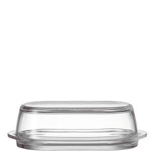 Leonardo Butterdose glas , 063690 , Transparent , 21x6.2x10 cm , klar, satiniert , 0038131856