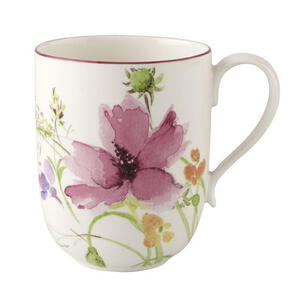 Villeroy & Boch Kaffeebecher , 1041001630 , Multicolor, Weiß , Keramik , Floral , 480 ml , 0034070063