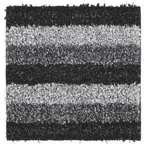 Kleine Wolke BADTEPPICH Schieferfarben 60/60 cm , Lounge 4000 905 135 , Textil , Streifen , 60x60 cm , für Fußbodenheizung geeignet, rutschhemmend , 003342106703