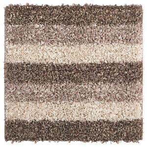 Kleine Wolke BADTEPPICH Taupe 60/60 cm , Lounge 4000 271 135 , Textil , Streifen , 60x60 cm , für Fußbodenheizung geeignet, rutschhemmend , 003342106704