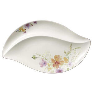 Villeroy & Boch Servierplatte , 1041012580 , Multicolor, Weiß , Keramik , Blume , 50x30 cm , 0034070368