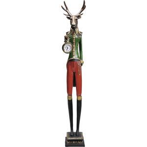 Kare-Design Tischuhr multicolor , Gentleman Deer , Kunststoff, Glas , 14x72x12.5 cm , 001838407301