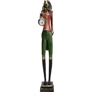 Kare-Design Tischuhr multicolor , Gentleman Dog , Kunststoff, Glas , 12.5x65x10.5 cm , 001838407303
