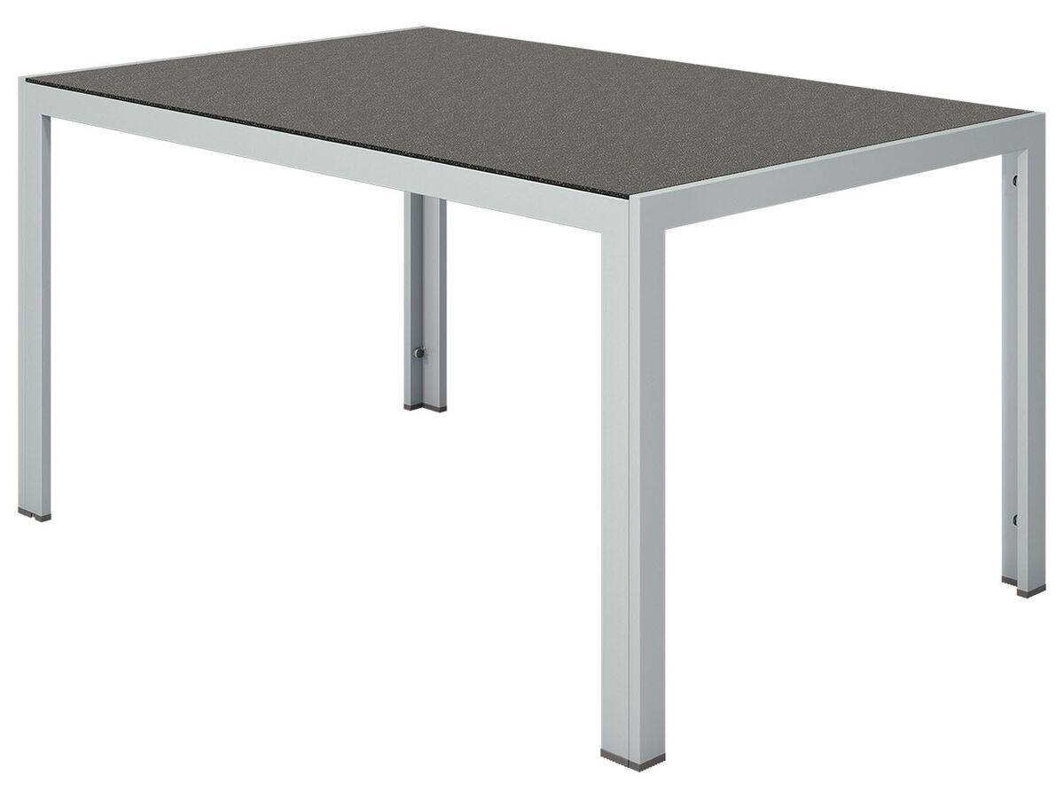 Bild 4 von FLORABEST Gartentisch Aluminium, Grau, Wendetischplatte