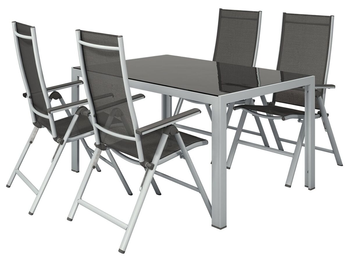 Bild 7 von FLORABEST Gartentisch Aluminium, Grau, Wendetischplatte